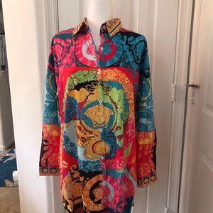 Long sleeve multicolored blouse